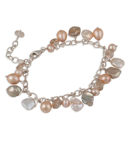 champagne pearl dangle bracelet by Carrie Whelan Designs