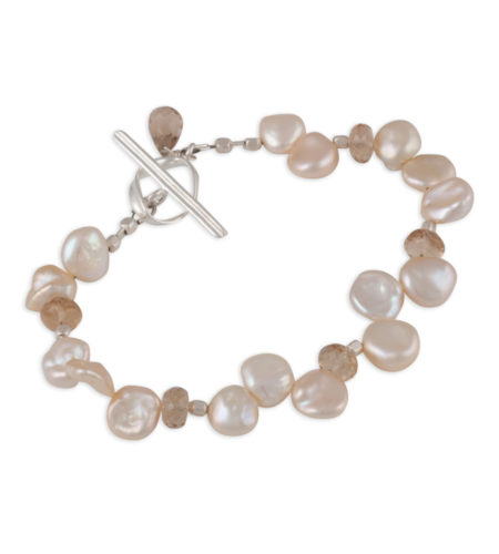 champagne keshi pearl bracelet by Carrie Whelan Designs