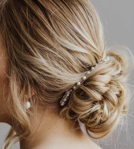 floral hair chain handcrafted by Carrie Whelan Designs