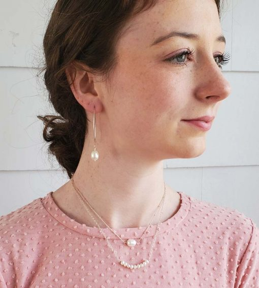 Delicate freshwater pearl jewelry handcrafted by Carrie Whelan Designs