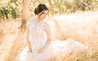 Gold Wedding Accessories for a Fine Art Bride