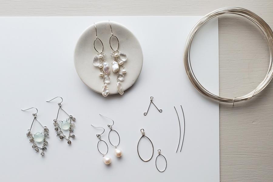 Handmade gold wedding accessories for a fine art bride by Carrie Whelan Designs