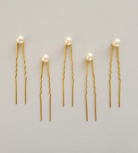 Ivory Swarovski Pearl hair pin set for wedding by Carrie Whelan Designs