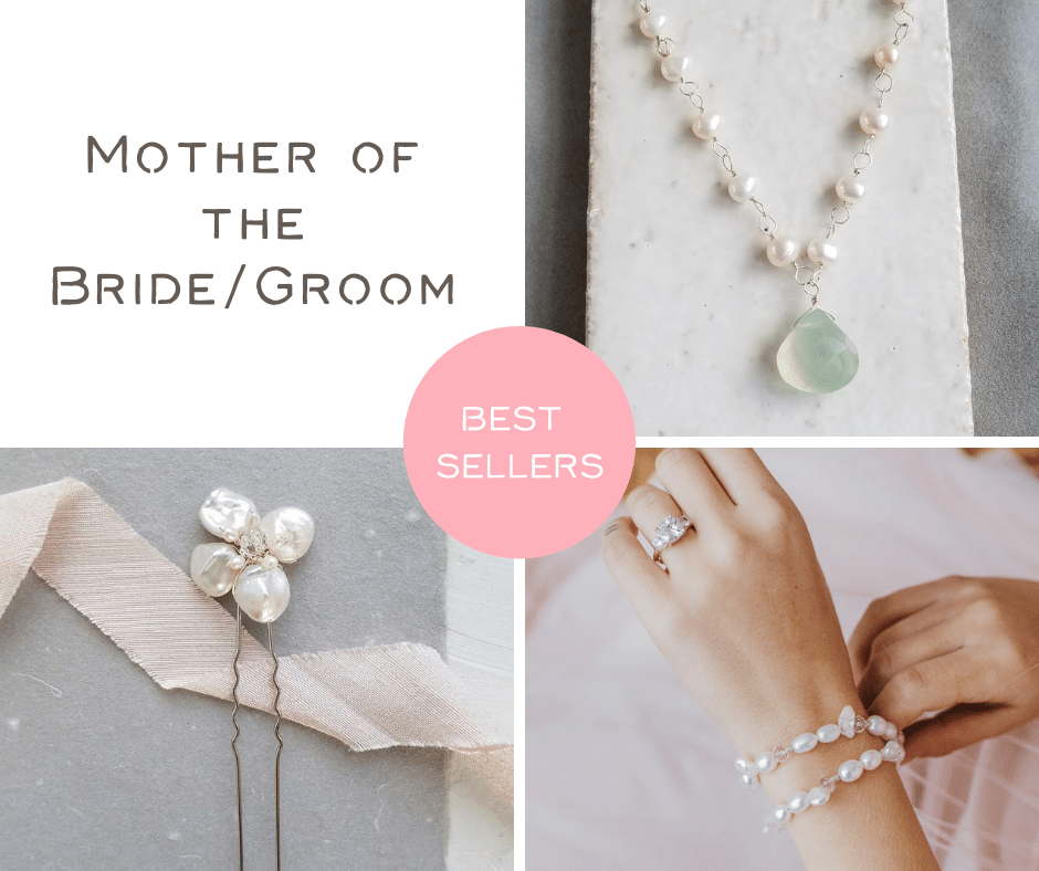 Best selling handmade bridal accessories for the Mother of the Bride by Carrie Whelan Designs