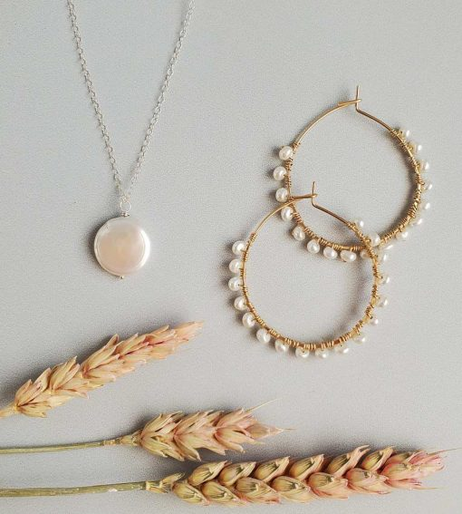 Freshwater pearl handcrafted by Carrie Whelan Designs
